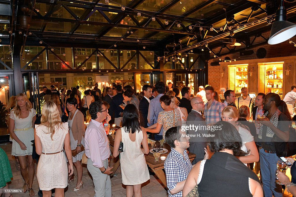 Interior overview of The Cinema Society and Bally screening of Summit Entertainment's 'Red 2' after party at Refinery Hotel on July 16, 2013 in New York City.