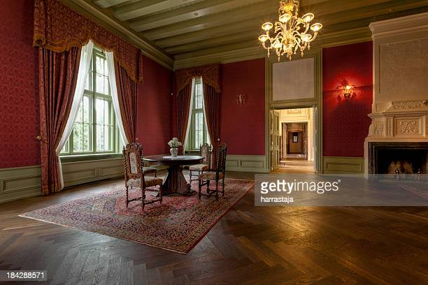 Interior room of an old manor house