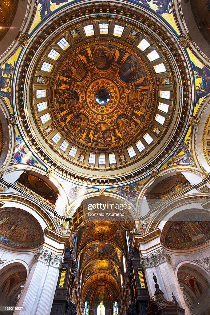 Interior Saint Paul Cathedral , : Stock Photo