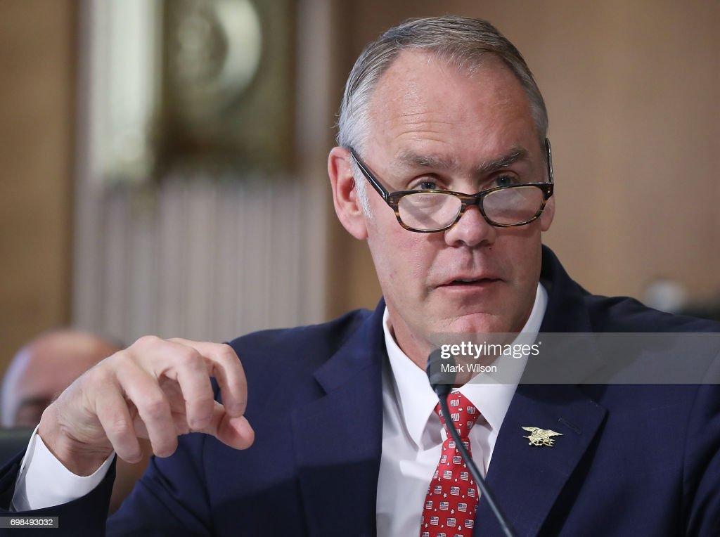 Interior Secretary Ryan Zinke Testifies To Senate Hearing On Department's Budget