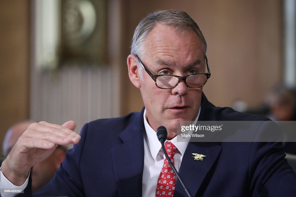 Interior Secretary Ryan Zinke Testifies To Senate Hearing On Department's Budget