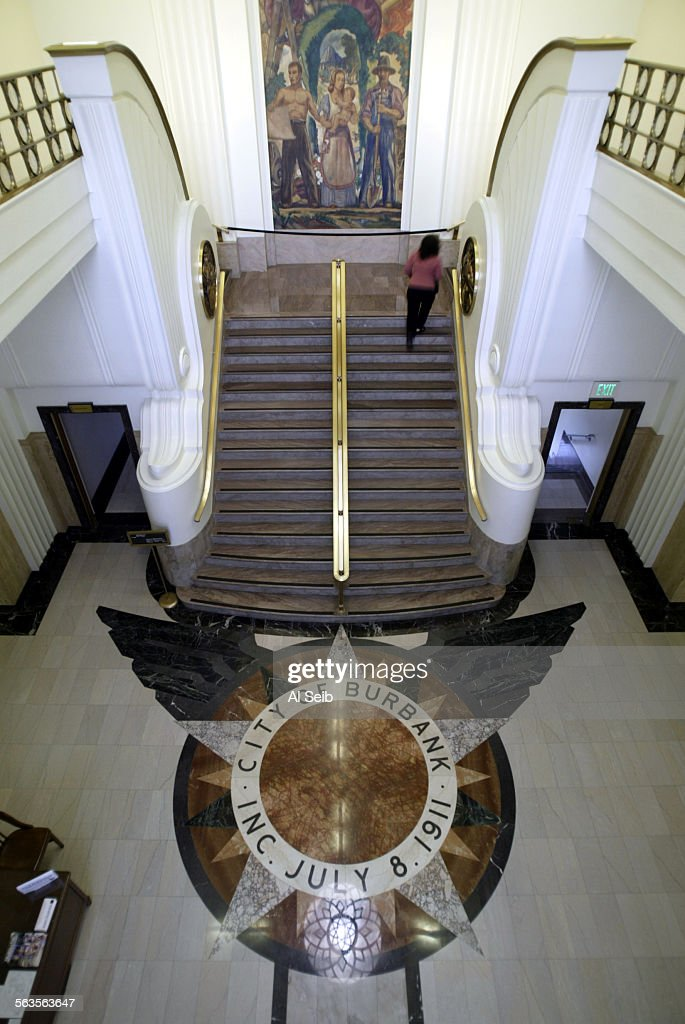BURBANK CA Interior shot of Burbank City Hall located at 275 E Olive for a Surroundings feature on Burbank City Hall a 77–foot–tall Art Deco...