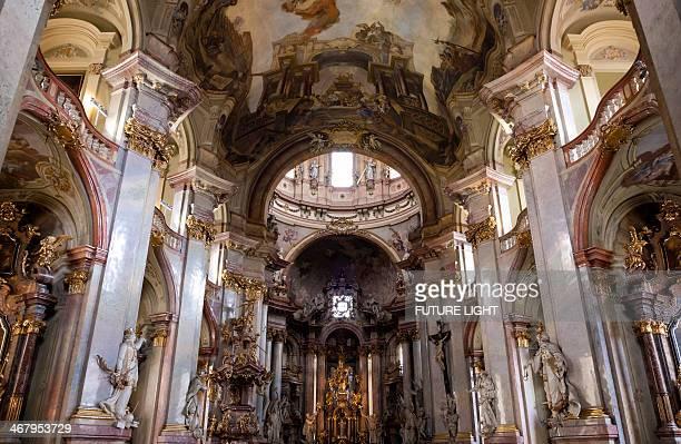 Interior St Nicholas Church Mikulas Mala Strana