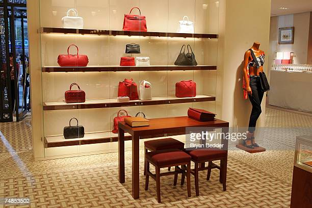 A interior view at the opening of the Hermes store on Wall street on June 21 2007 in New York City
