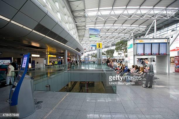 Interior view departure level Duesseldorf airport