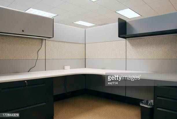 Interior view of a empty cubicle