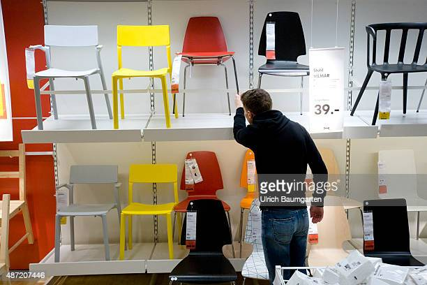 Interior view of an Ikea store in Cologne Customer in the division of seating furniture