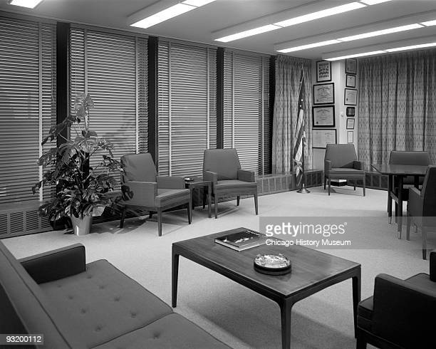 Interior view of an office sitting area within the Dirksen Federal Building of the Chicago Federal Center Chicago IL ca1960s Located at 219 S...