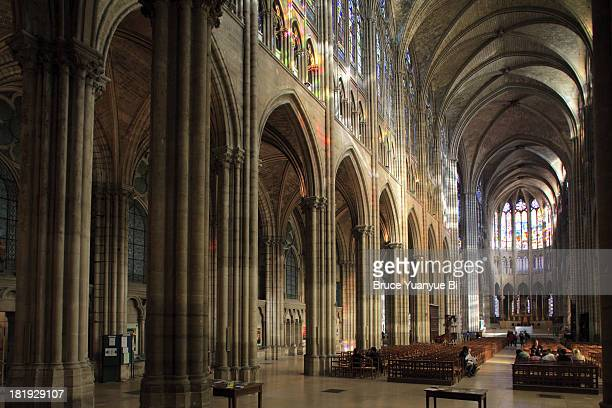 Interior view of Cathedral Basilica of Saint Denis