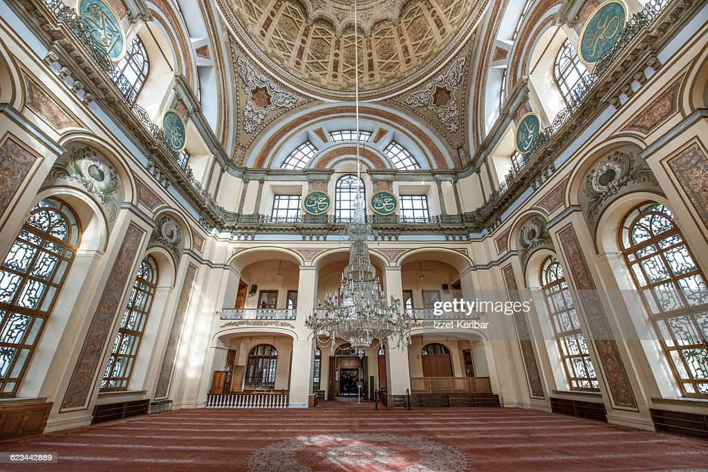 Interior view of dolmabahce mosque in istanbul stock photo for High resolution interior images