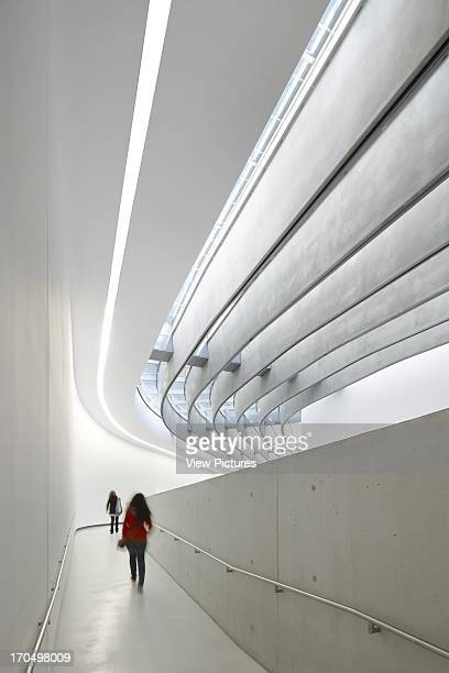 interior view of gallery walkway MAXXI National Museum of the 21st Century Arts Art Gallery Europe Italy Zaha Hadid Architects