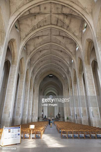 Interior view of Guildford Cathedral aisle and knave
