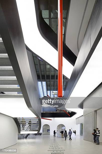 interior view of lobby MAXXI National Museum of the 21st Century Arts Art Gallery Europe Italy Zaha Hadid Architects