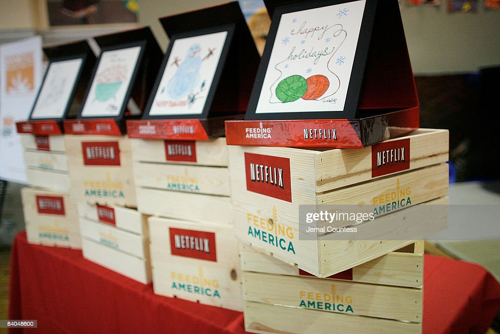 Interior view of oneofa kind auction items created by Anne Hathaway Scarlett Johansson Ben Affleck and Jessica Alba at the Kids Cafe during the Anne...