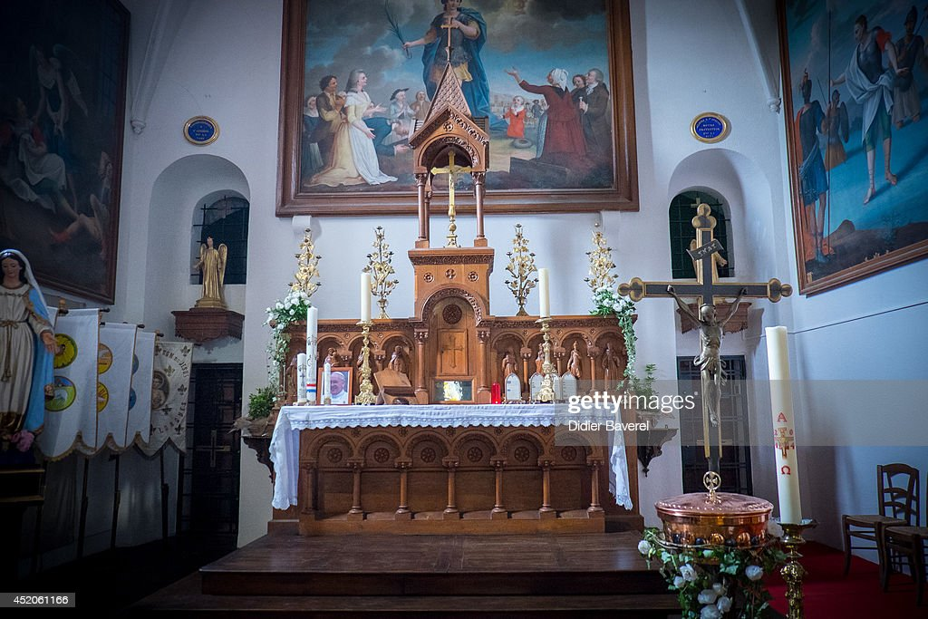 Interior view of Saint Ferreol Chapel in Lorgues on July 12, 2014 in Lorgues, France.