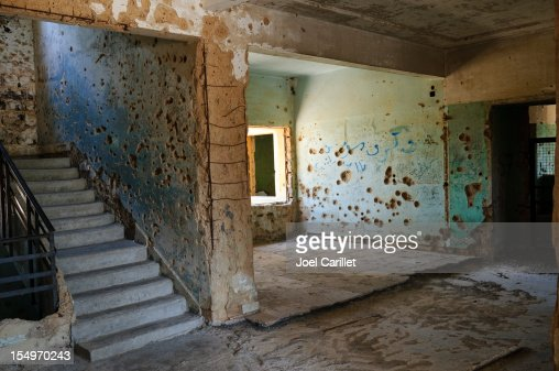 War damaged building in Quneitra, Syria