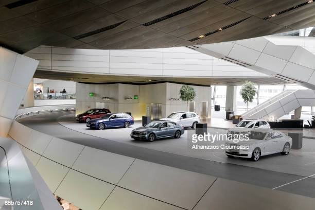 Interior view of The BMW Welt or BMW World on April 15 2017 in Munich Germany BMW Welt or BMW World is a multiuse exhibition center used for meetings...