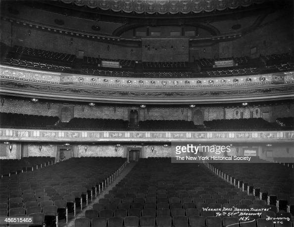 Interior view of the empty seats at the Beacon Theater New York 1930