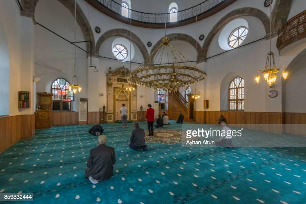 Interior view of The Haci Miktat Mosque in the city centre of Giresun,Black Sea Coast of Turkey