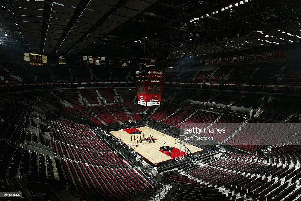 Interior view of the Rose Garden home of the Portland Trailblazers taken on November 15 2002 in Portland Oregon NOTE TO USER User expressly...