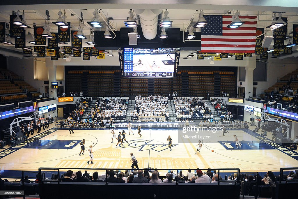 Interior view of the Smith Center during a womens college basketball game between the California Golden Bears and the George Washington Colonials on...