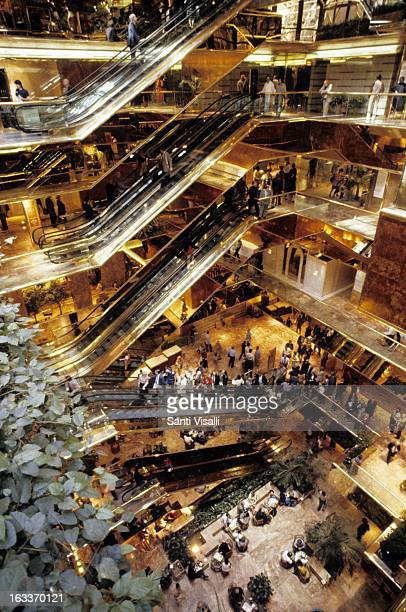 Interior view of the Trump Tower by Der Scutt on August 28 1985 in New York New York