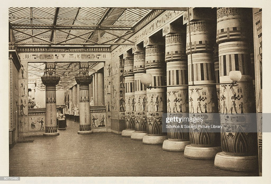 egyptian interior, the crystal palace, sydenham, london, 1911