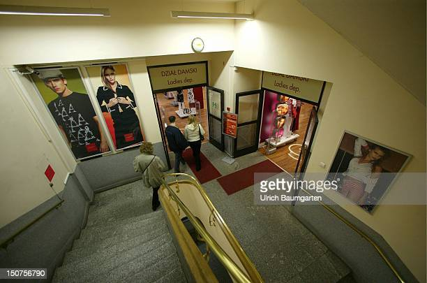 Interior view staircase in a department store in Cracow