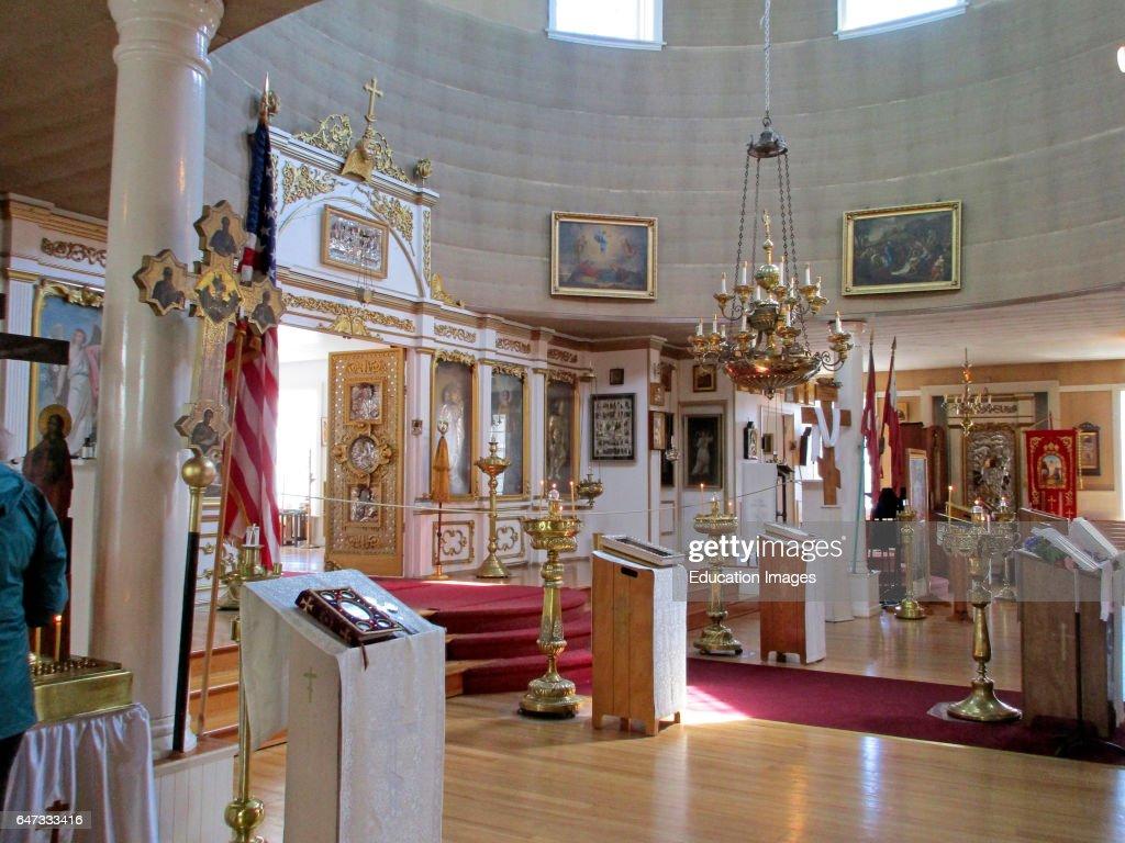 interior with artifacts st michael u0027s russian orthodox church