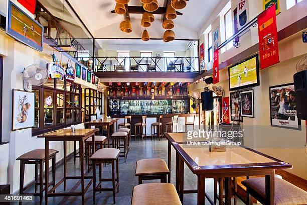 Interiors of a bar Tate Sports Bar Colva South Goa Goa India