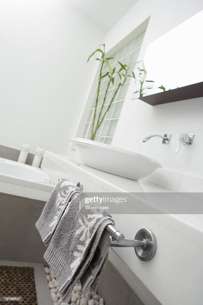 Interiors of a bathroom : Stock Photo