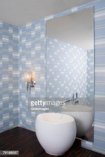 Interiors of a bathroom : Foto de stock
