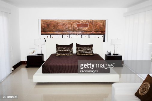 Interiors of a bedroom : Foto de stock
