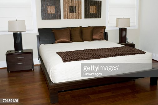Interiors of a bedroom : Stock Photo
