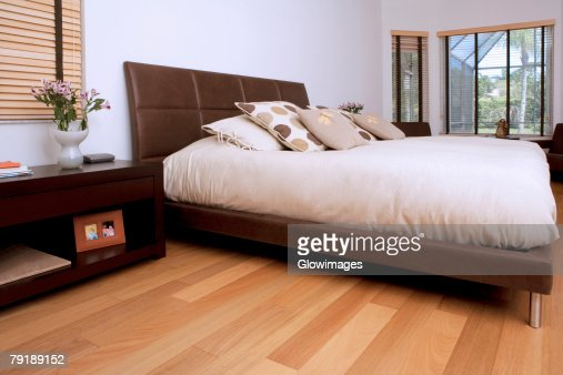 Interiors of a bedroom : Foto de stock