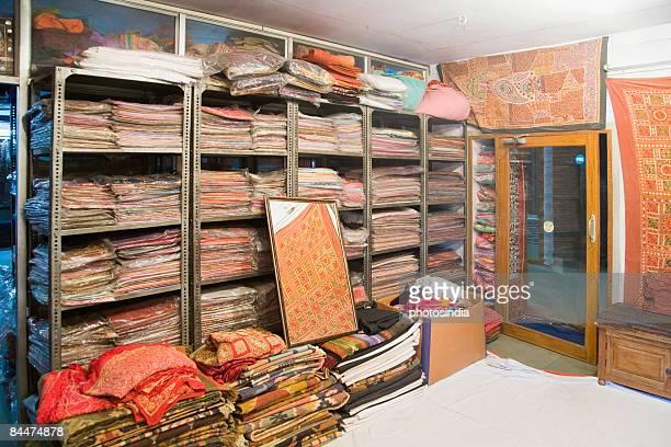 Interiors of a clothing store, Jodhpur, Rajasthan, India
