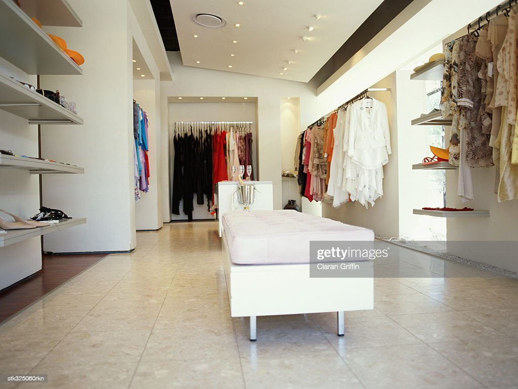 interiors of a clothing store : Stock Photo