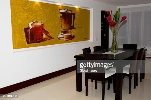 Interiors of a dining room : Foto de stock
