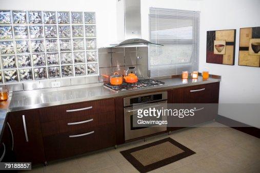 Interiors of a domestic kitchen : Foto de stock