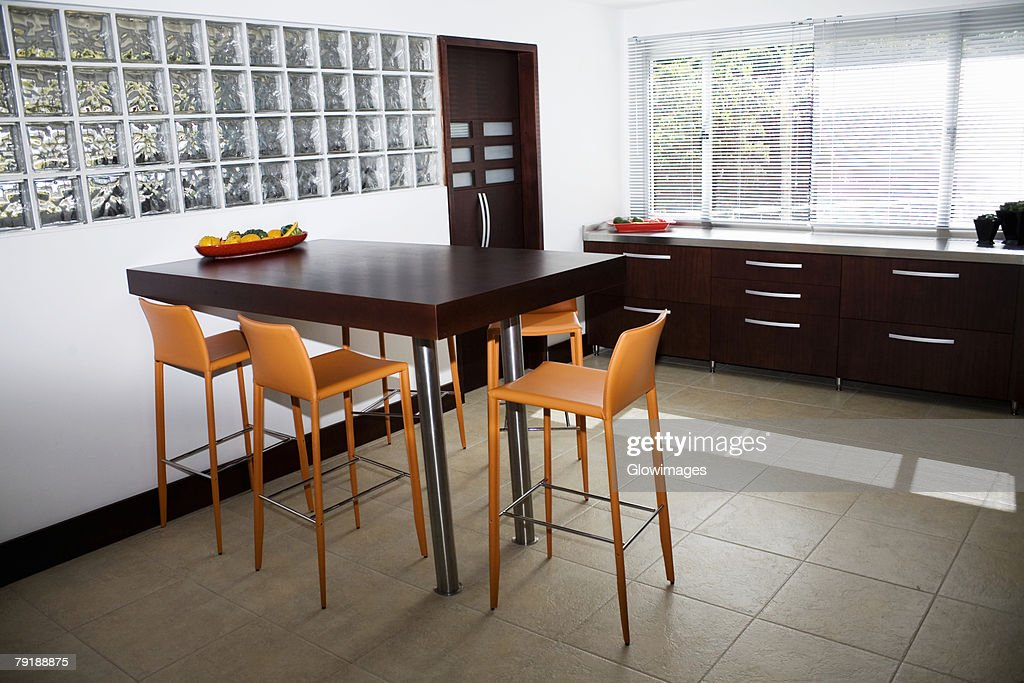 Interiors of a domestic kitchen : Stock Photo