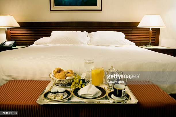 Interiors of a hotel room
