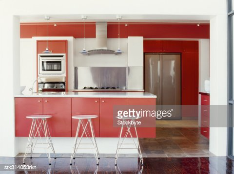 interiors of a kitchen : Stock Photo