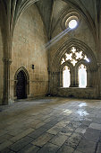 Interiors of a monastery, Batalha, Portugal