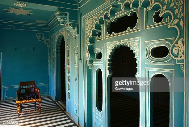 Interiors of a palace, Fateh Prakash Palace, Udaipur, Rajasthan, India