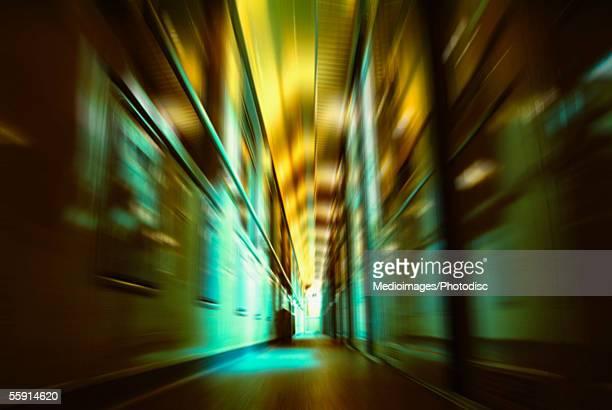 Interiors of a railroad car