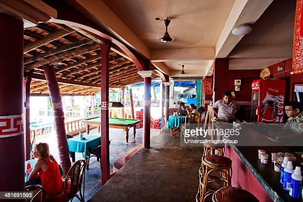 Interiors of a restaurant Rice Bowl Restaurant Arambol North Goa Goa India