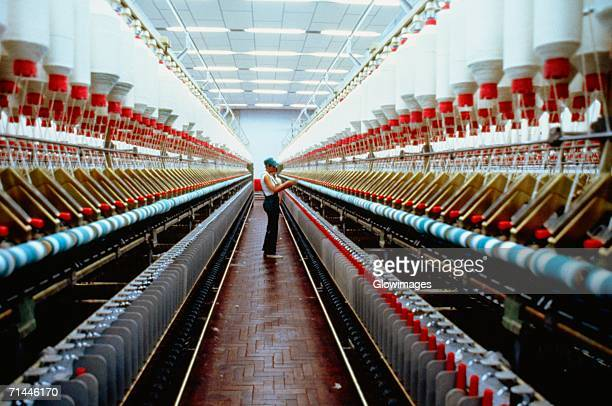Interiors of a textile manufacturing plant, Recife, Brazil