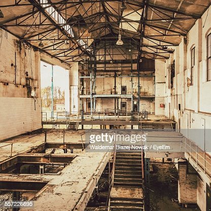 Interiors Of Abandoned Factory