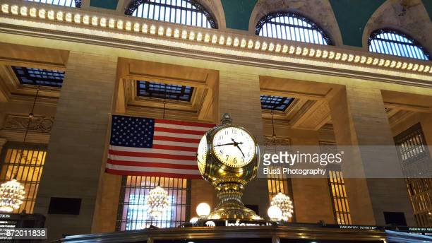 Interiors of Grand Central Station in Manhattan, New York City: Grand Central Station's Center Concourse Clock