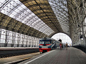 Interiors of Kievsky Rail Station in Moscow
